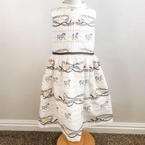 NWT Janie and Jack Equestrian Scarf Print Dress